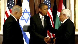 Netanyahu, Obama e Abbas | FotoÇ AP