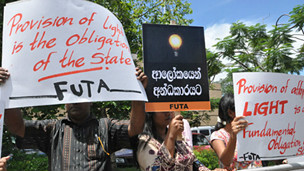 Protest against electricity price hike