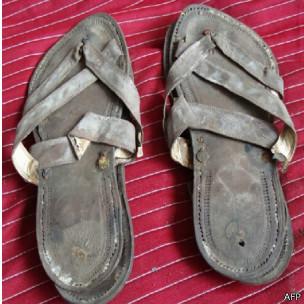 Las sandalias subastadas
