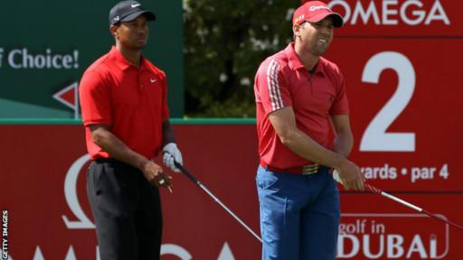 Tiger Woods dan Sergia Garcia