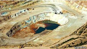 Mina de cobre en Chile