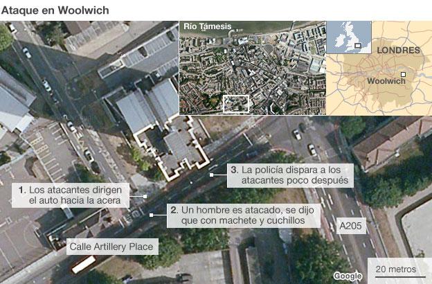 Mapa de Woolwich