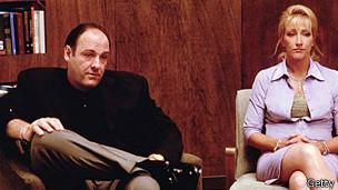 Tony Soprano y su esposa, Carmela
