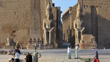 埃及卢克索神庙(资料图片)