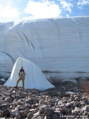 Glaciar Teardrop, en el ártico canadiense