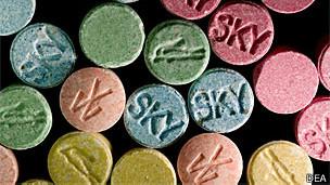 Comprimidos de ecstasy (Foto: DEA)