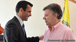 Henrique Capriles y Juan Manuel Santos