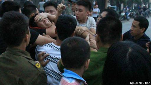 Anh Nguyễn Văn Phương bị tấn công