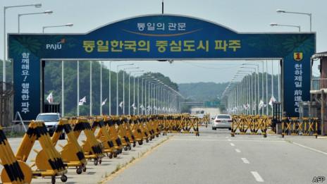開城工業園區朝韓邊界線(06/06/2013)