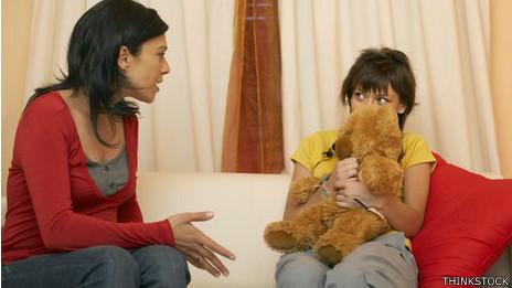 Madre hablando con hija