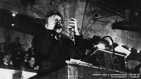 Fotografía de Trotsky