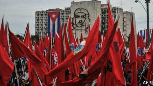 Manifestação pró-governo em Cuba (AFP)