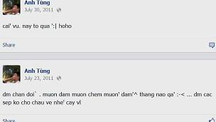 Thông điệp trên Facebook của ông Lê Anh Tùng
