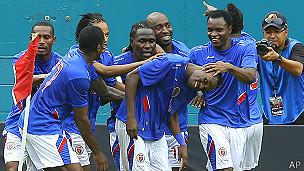 Haití celebra gol