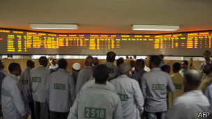 Bolsa de Commodity em Addis Abeba (Foto AFP)