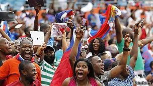 Hinchas haitianos
