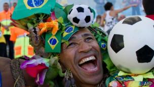 Torcedor brasileiro | Foto: AFP