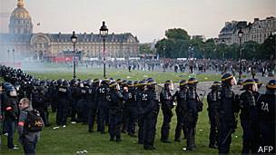 Protesto contra o casamento gay na França (AFP)