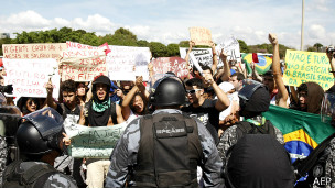 Protesto em Brasília (AFP)