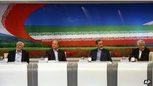 Candidatos na eleição iraniana (foto:AP)