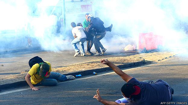 Protestas en Río de Janeiro el 16 de junio