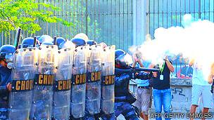 Protestos no Brasil durante a Copa das Confederações | Foto: AFP