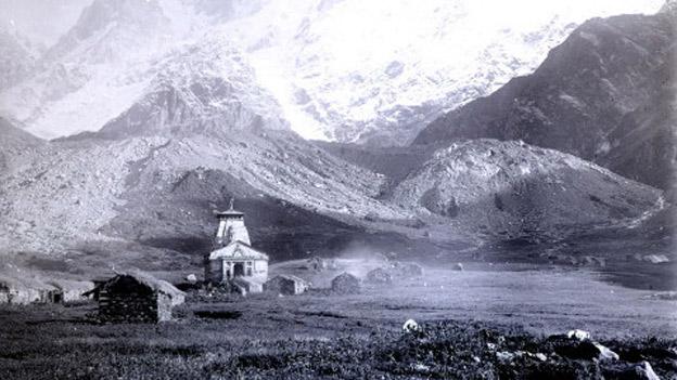 1882 में खींची गई केदारनाथ की तस्वीर