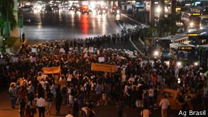 Protesta en Brasilia