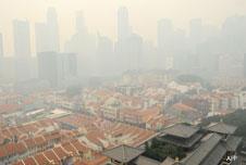 Smog over Singapore