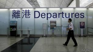 香港机场离境大厅