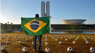A Copa do Mundo tem sido alvo de manifestações de protesto.