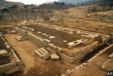 Ruins of Manwoldae in Kaesong