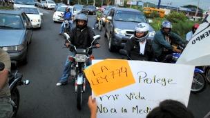 Protesta por la ley 779 en Nicaragua