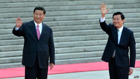 Chủ tịch Trung Quốc Tập Cận Bình và Chủ tịch Trương Tấn Sang