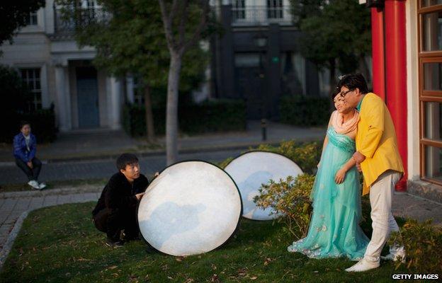 Chụp ảnh cưới ở Thames Town