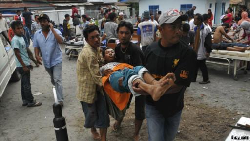 Korban luka akibat gempa di Bener Meriah