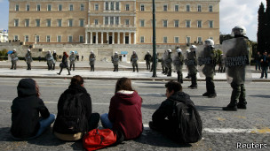 Unemployed youth in Athens, Reuters
