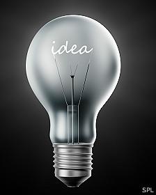 Un bombillo con la palabra Idea escrita