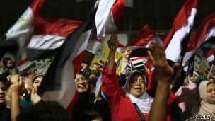 Protesto pró-Morsi no Egito (Getty)