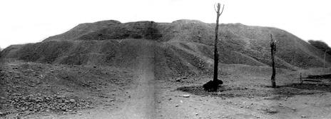La huaca Pucllana hace 35 años, antes del inicio de excavaciones