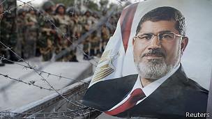Poster de Morsi en El Cairo