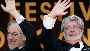 Steven Spielberg y George Lucas