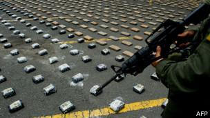 Cocaína incautada en Colombia