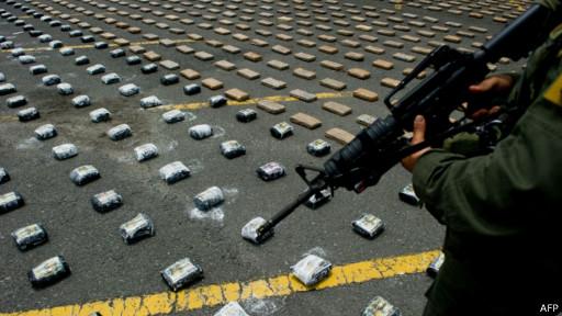 Kokain yang ditangkap di Kolombia.