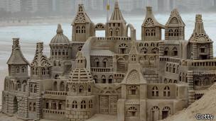 Castillo de arena en Rio de Janeiro