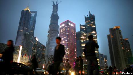 上海浦東街頭