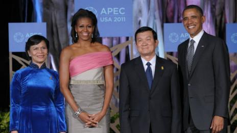 Hai ông Trương Tấn Sang, Barack Obama và hai phu nhân