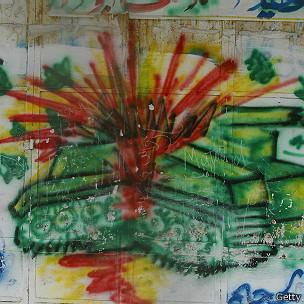 Grafitti de un tanque