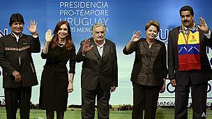 Algunos de los presidentes que viajarán a Paraguay para la investidura.