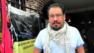 Jorge Andrade, activista pro migrante del Colectivo Ustedes Somos Nosotros